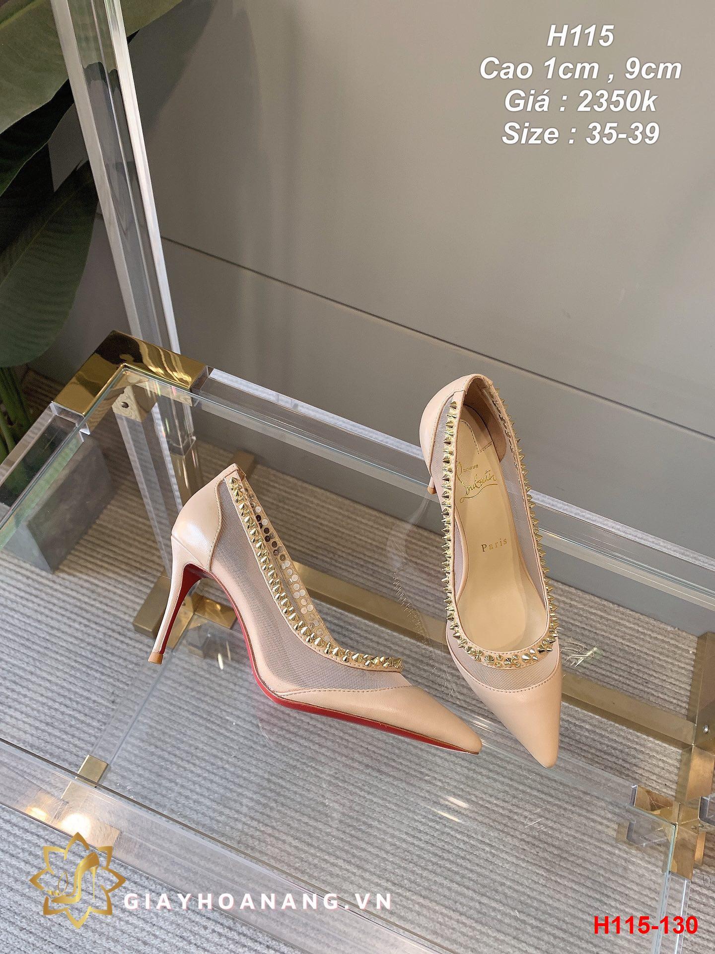 H115-130 Louboutin giày cao 1cm , 9cm siêu cấp