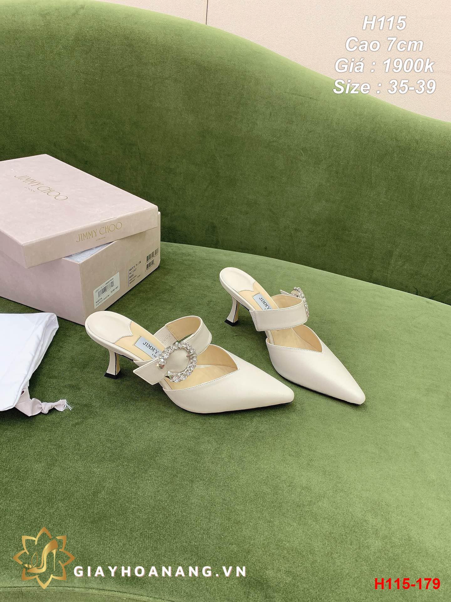 H115-179 Jimmy Choo sandal cao 7cm siêu cấp