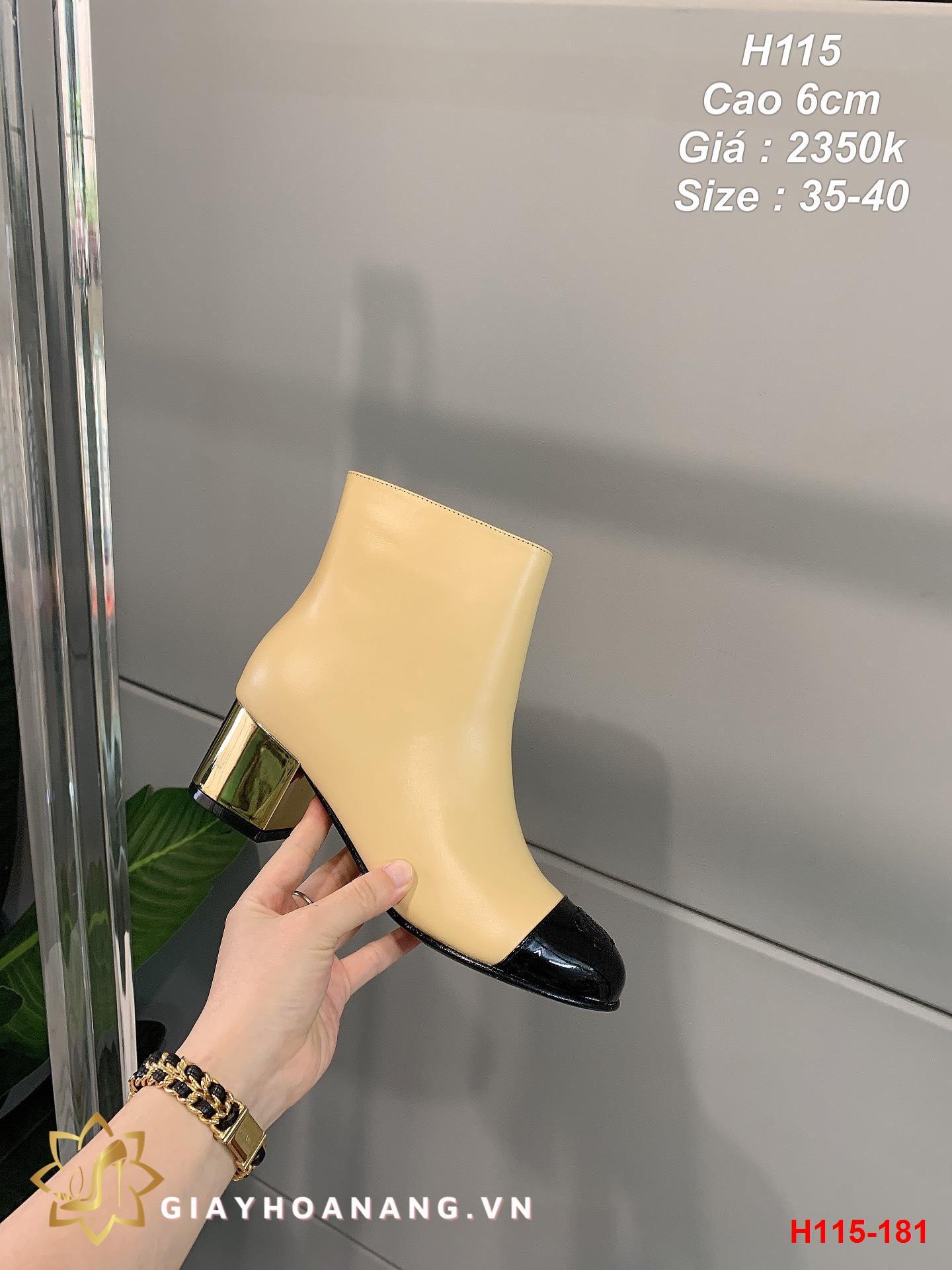 H115-181 Chanel bốt cao 6cm siêu cấp