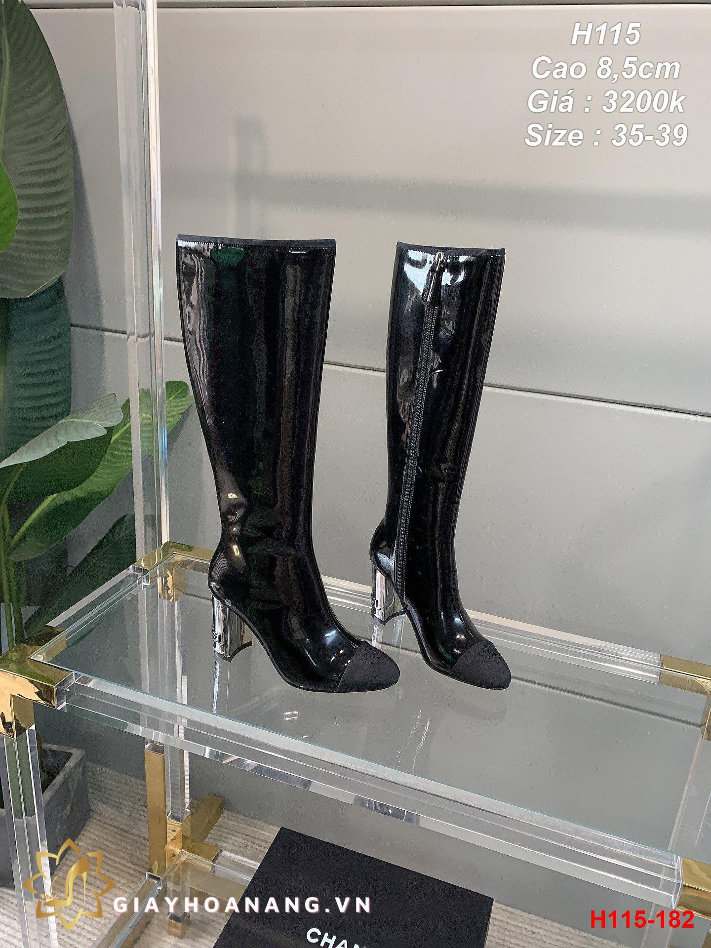 H115-182 Chanel bốt cao 8,5cm siêu cấp