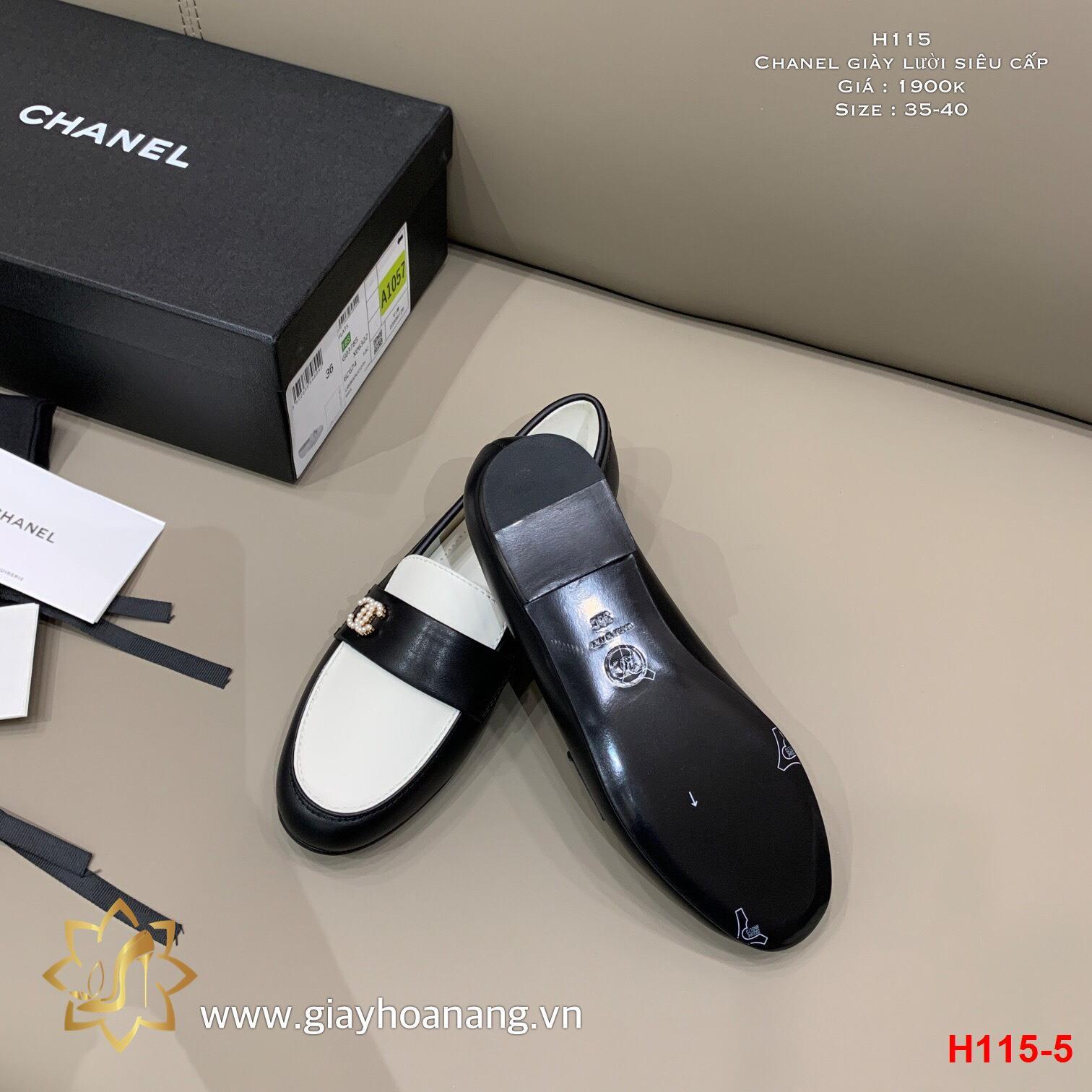 H115-5 Chanel giày lười siêu cấp