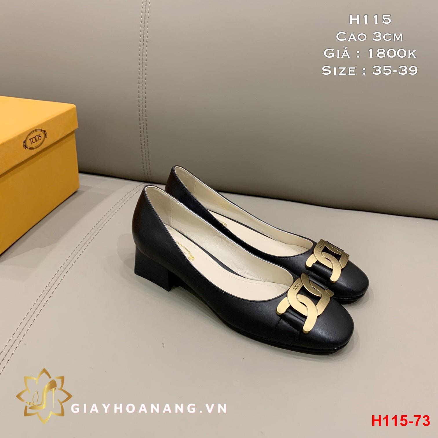 H115-73 Tods giày cao 3cm siêu cấp