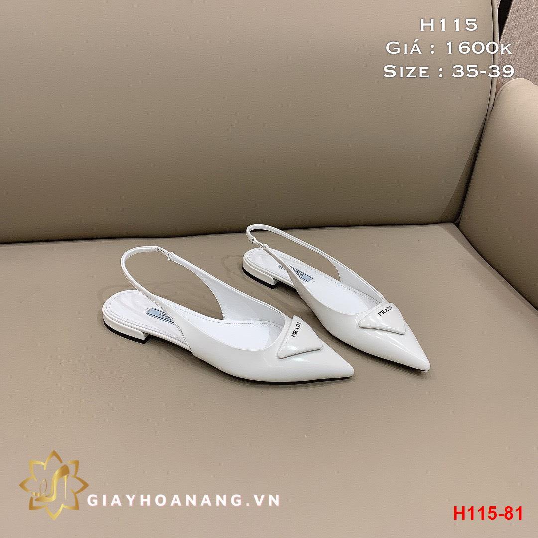 H115-81 Prada sandal bệt siêu cấp
