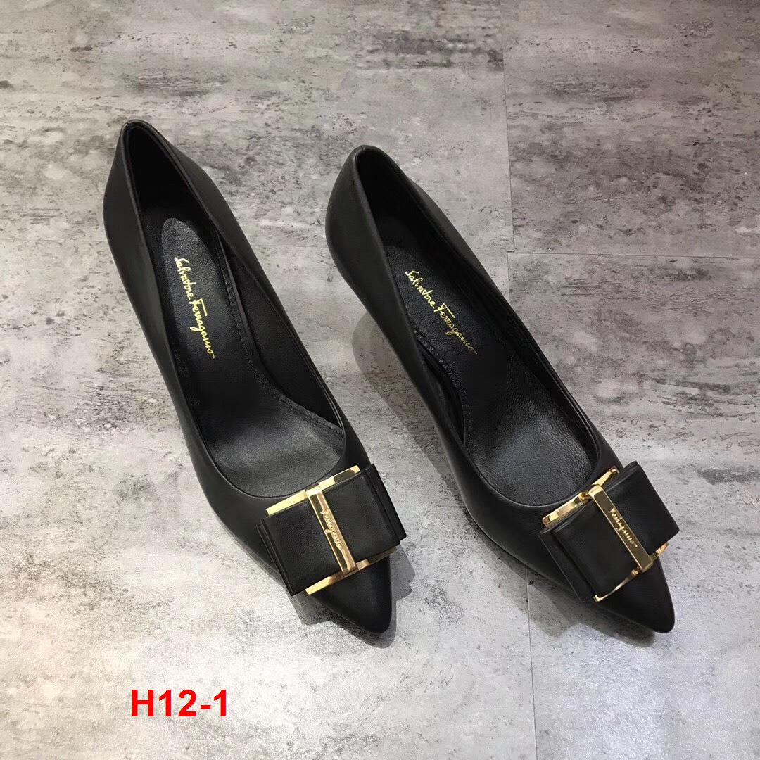 H12-1 Salvatore Ferragamo giày cao 7cm siêu cấp