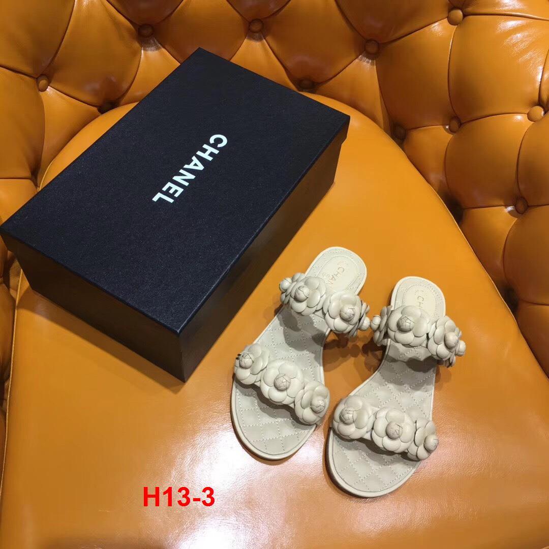 H13-3 Chanel dép bệt siêu cấp