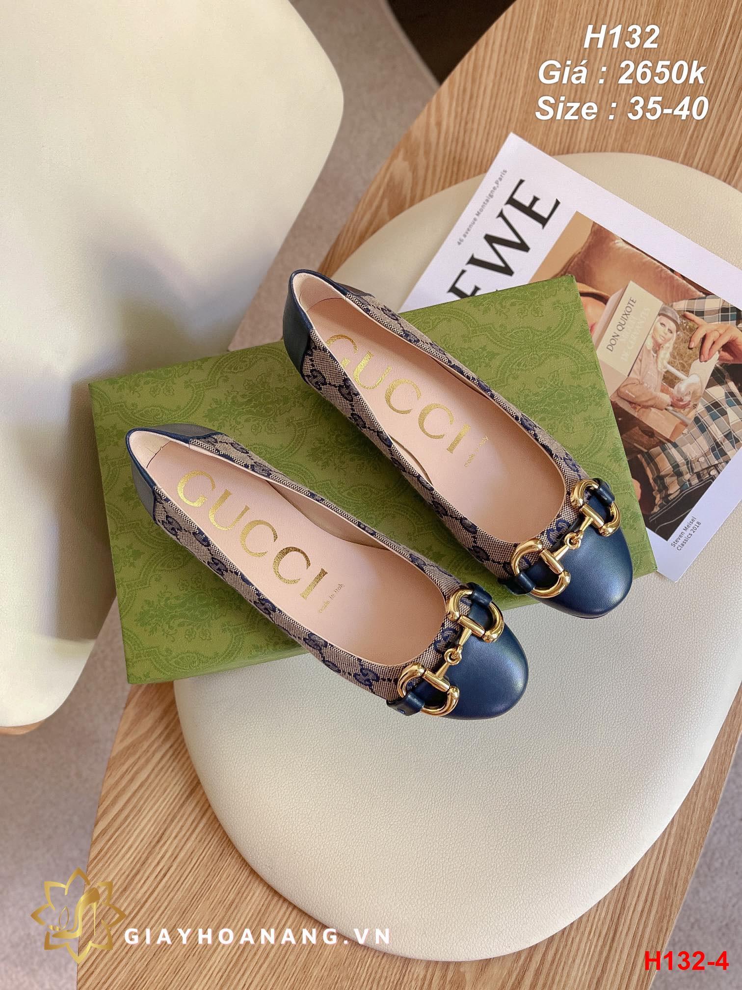H132-4 Gucci giày bệt siêu cấp