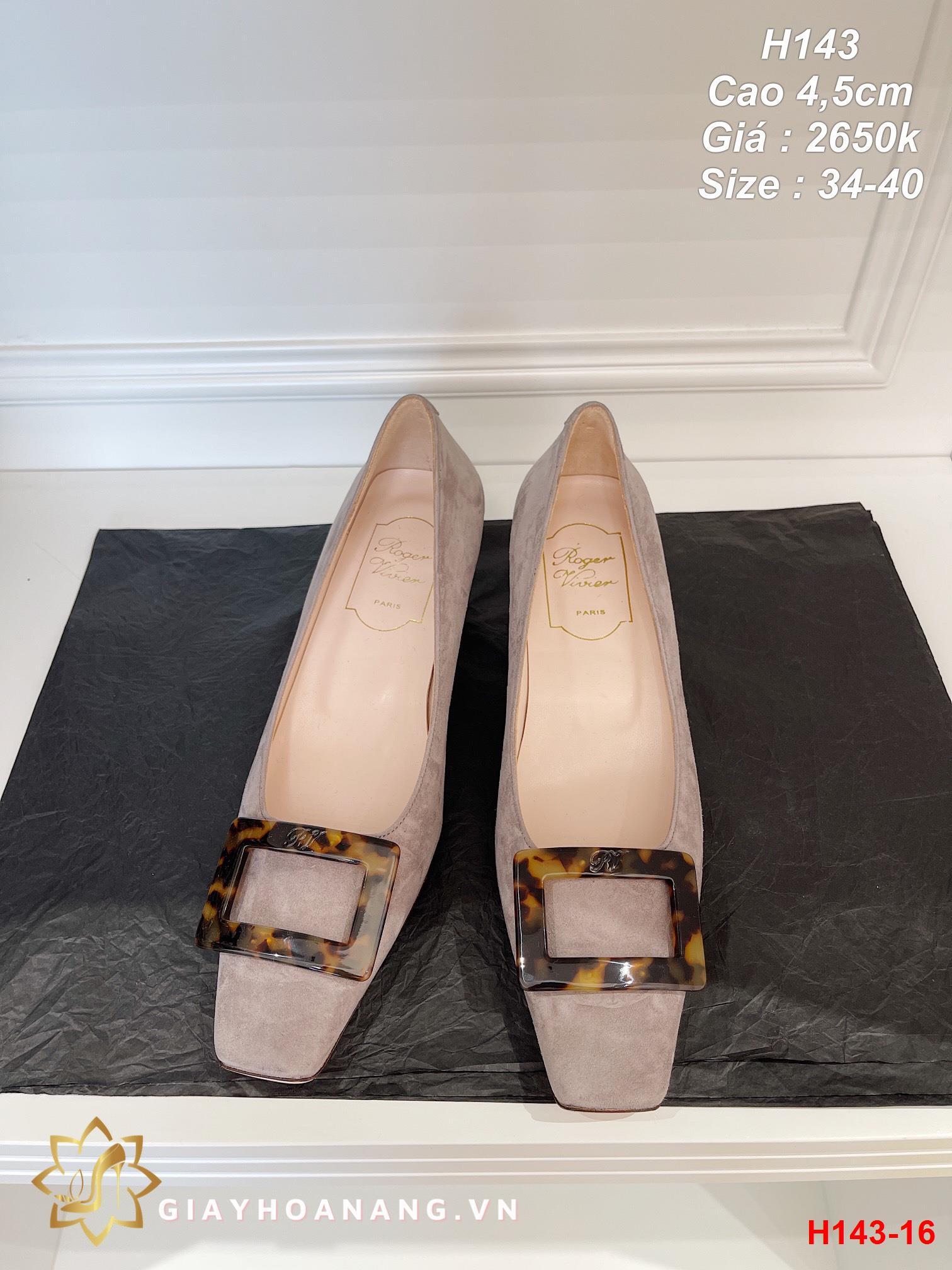 H143-16 Roger Vivier giày cao 4,5cm siêu cấp