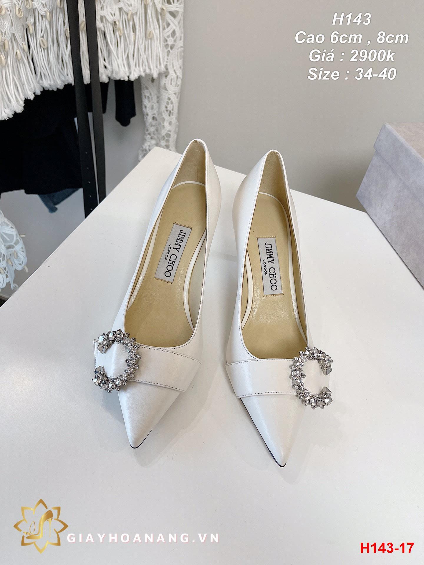 H143-17 Jimmy Choo giày cao 6cm , 8cm siêu cấp