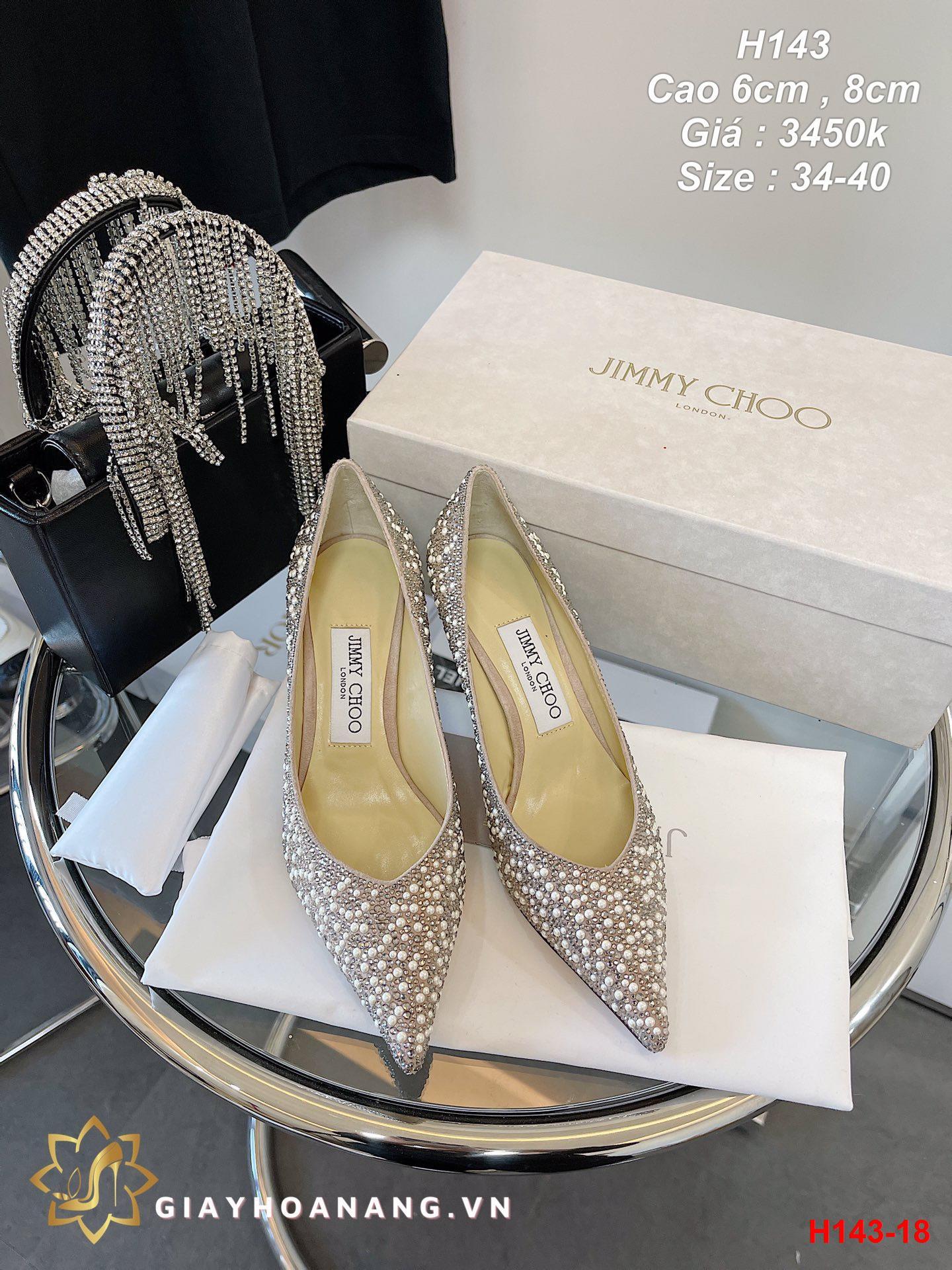 H143-18 Jimmy Choo giày cao 6cm , 8cm siêu cấp