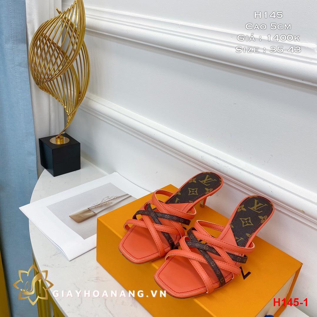 H145-1 Louis Vuitton dép cao 5cm siêu cấp