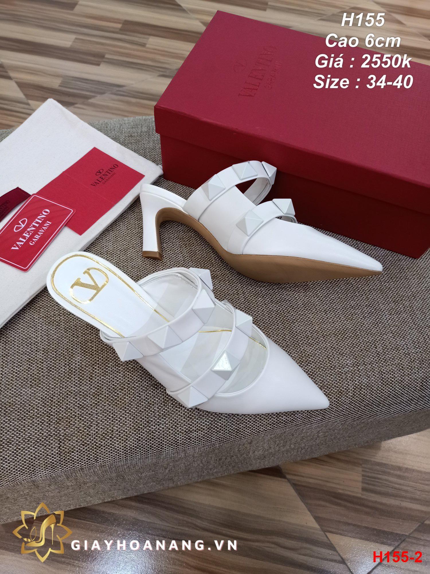 H155-2 Valentino sandal cao 6cm siêu cấp