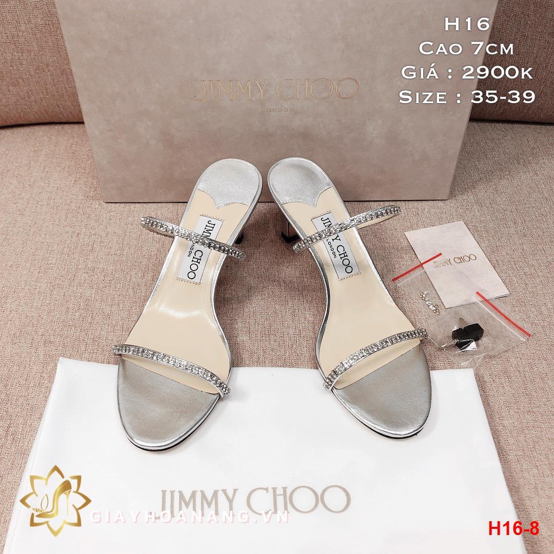 H16-8 Jimmy Choo dép cao 7cm siêu cấp