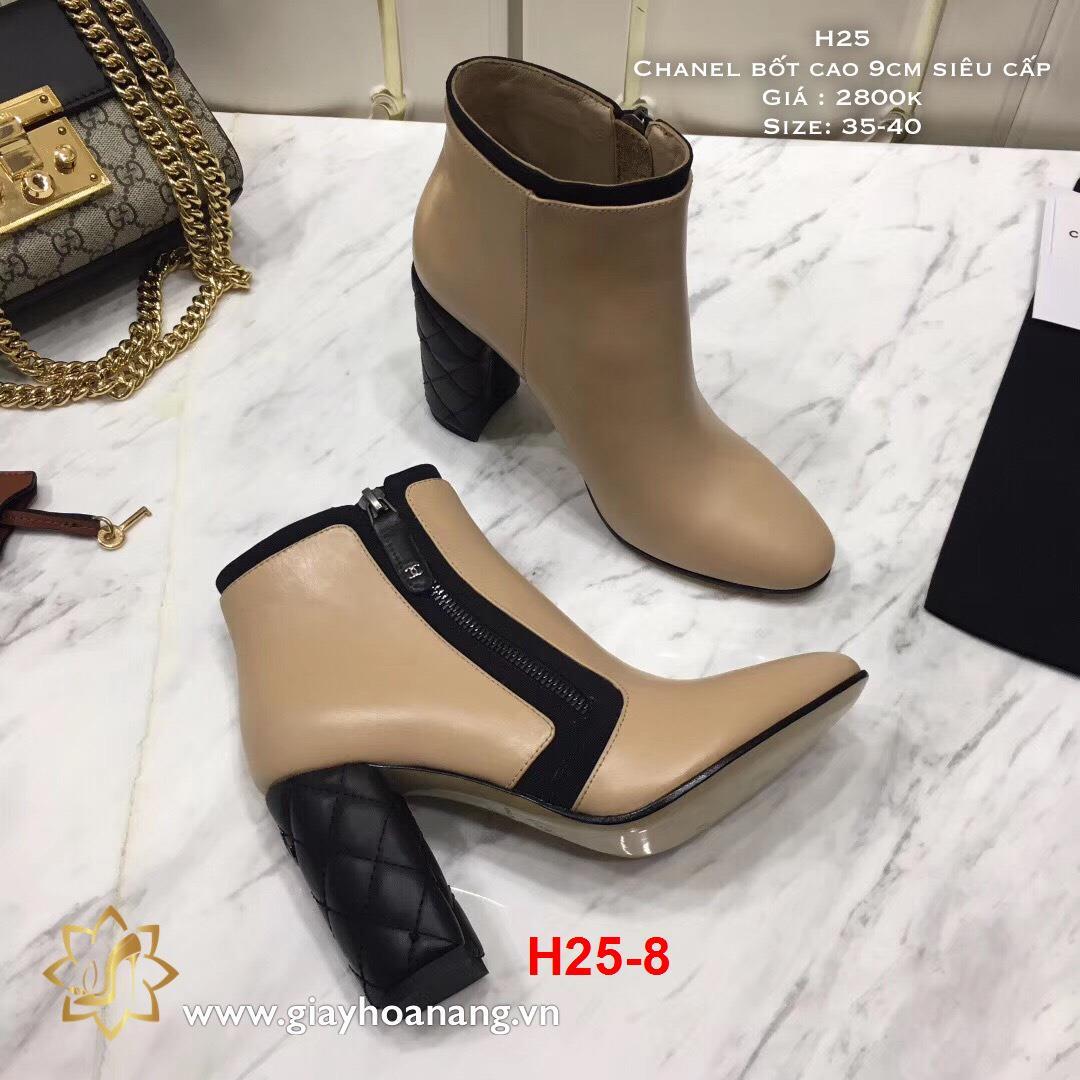 H25-8 Chanel bốt cao 9cm siêu cấp