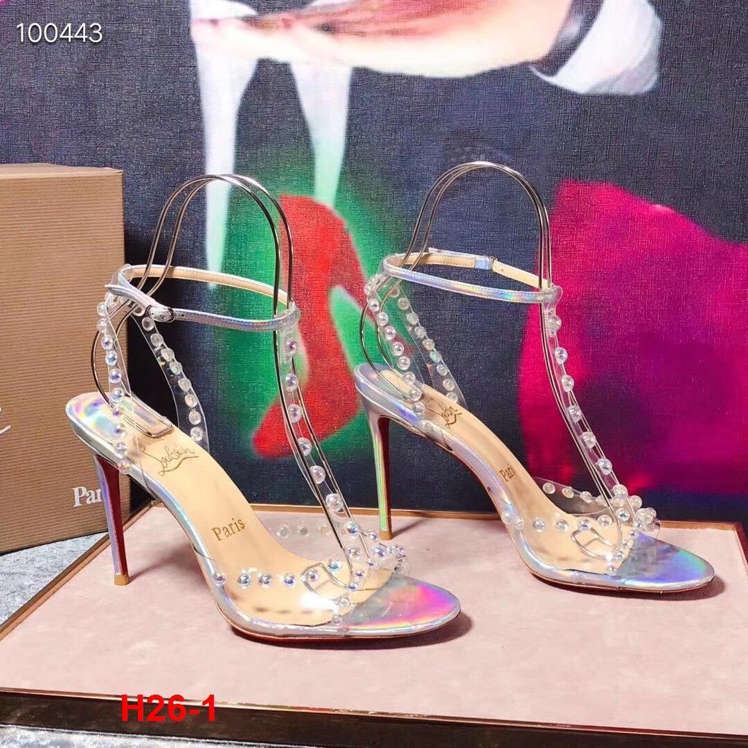 H26-1 Louboutin sandal cao 10cm siêu cấp