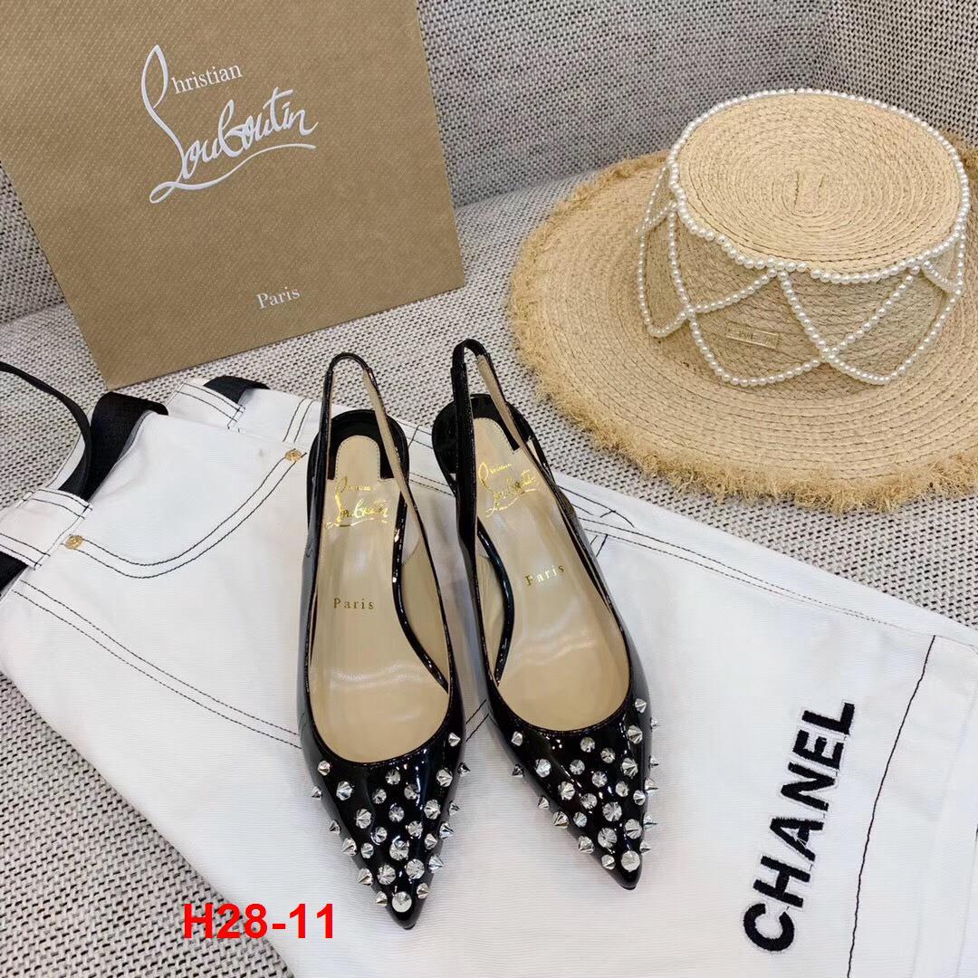 H28-11 Louboutin sandal cao 6cm, 8cm, 10cm siêu cấp
