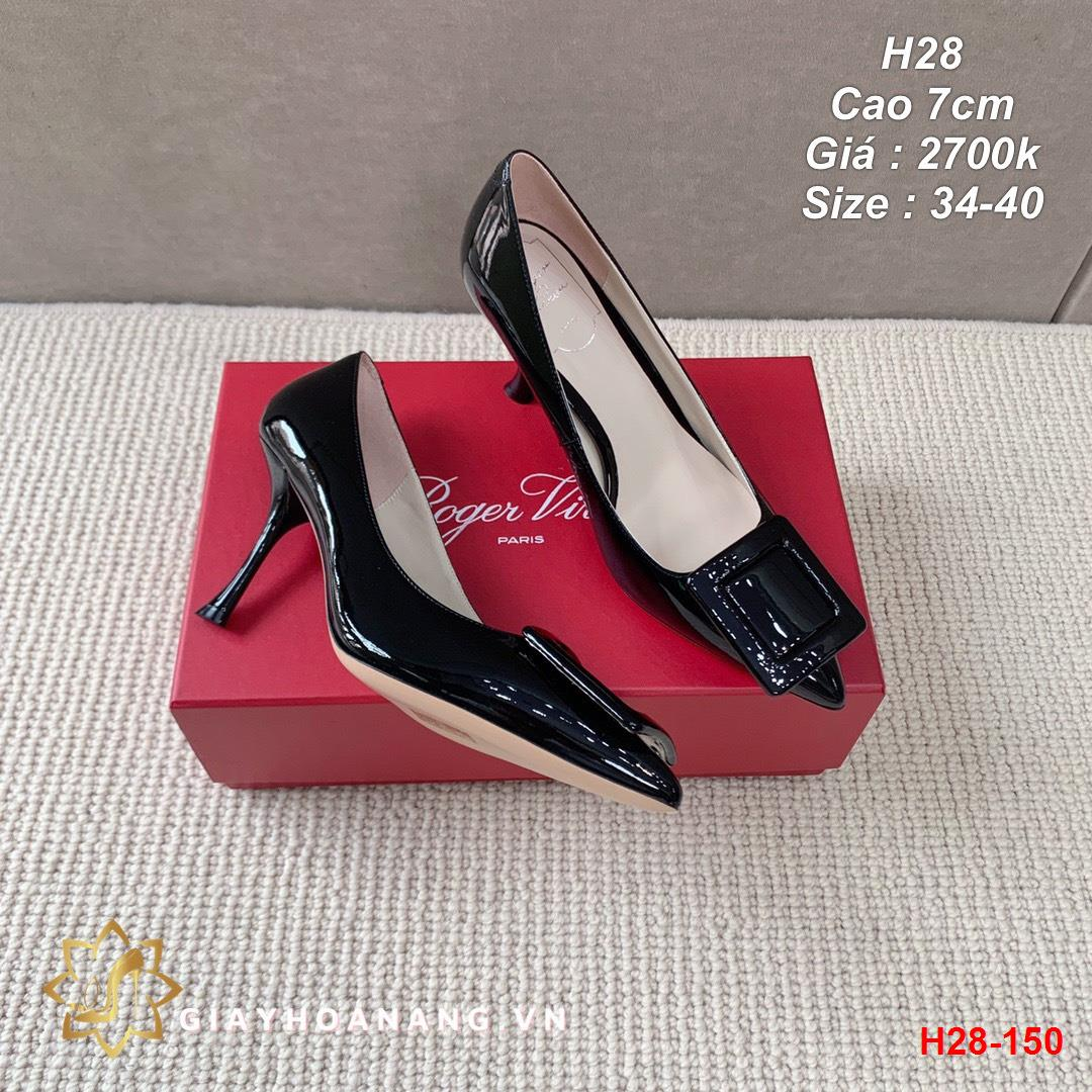 H28-150 Roger Vivier giày cao 7cm siêu cấp