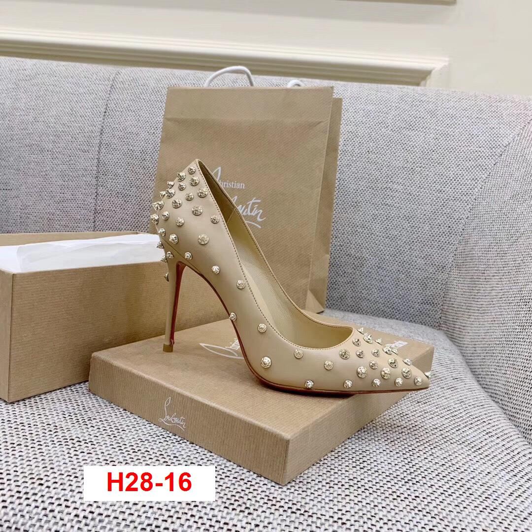 H28-16 Louboutin giày cao 10cm siêu cấp