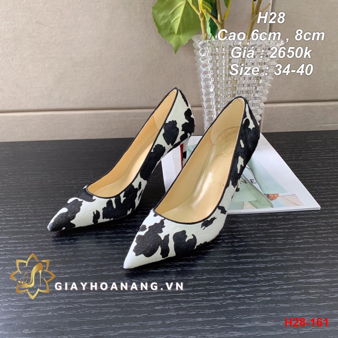 H28-161 Louboutin giày cao 6cm , 8cm siêu cấp
