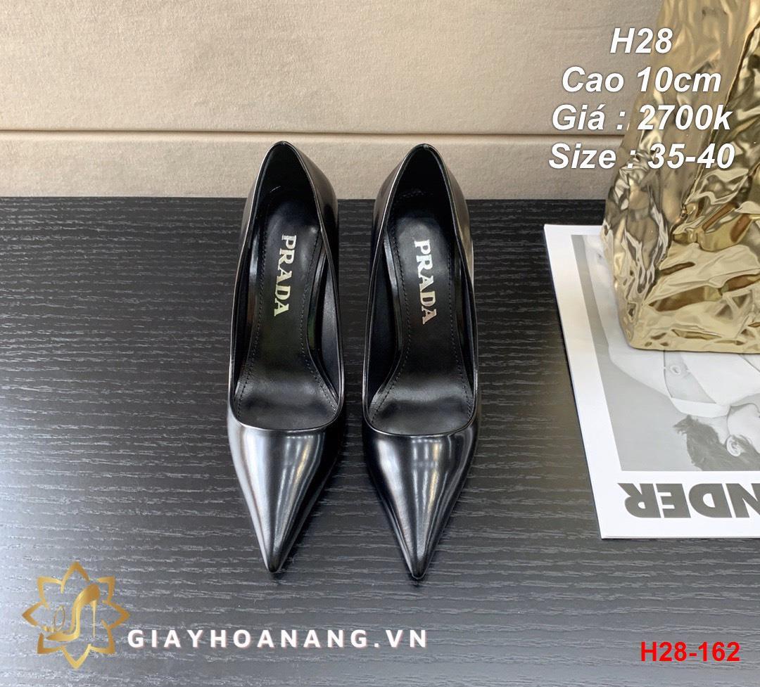 H28-162 Prada giày cao 10cm siêu cấp