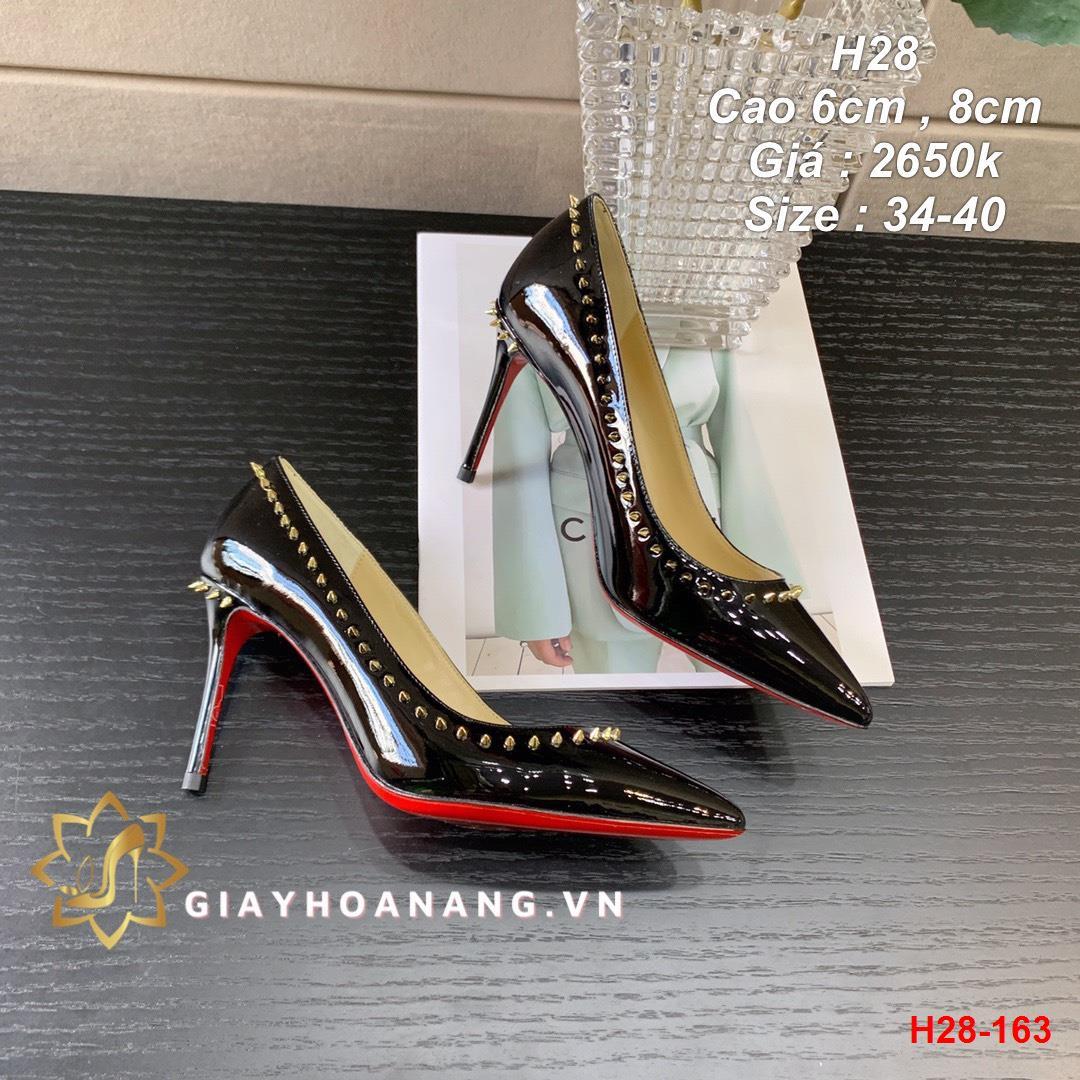 H28-163 Louboutin giày cao 6cm , 8cm siêu cấp
