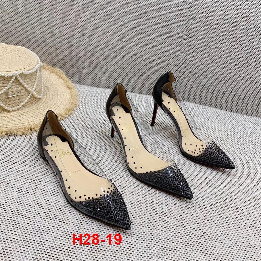 H28-19 Louboutin giày cao 2cm siêu cấp