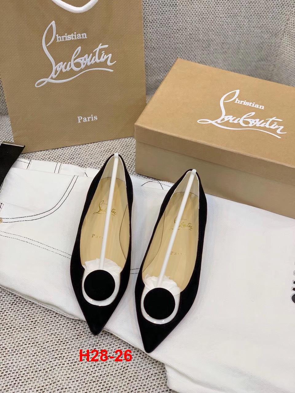 H28-26 Louboutin giày bệt siêu cấp