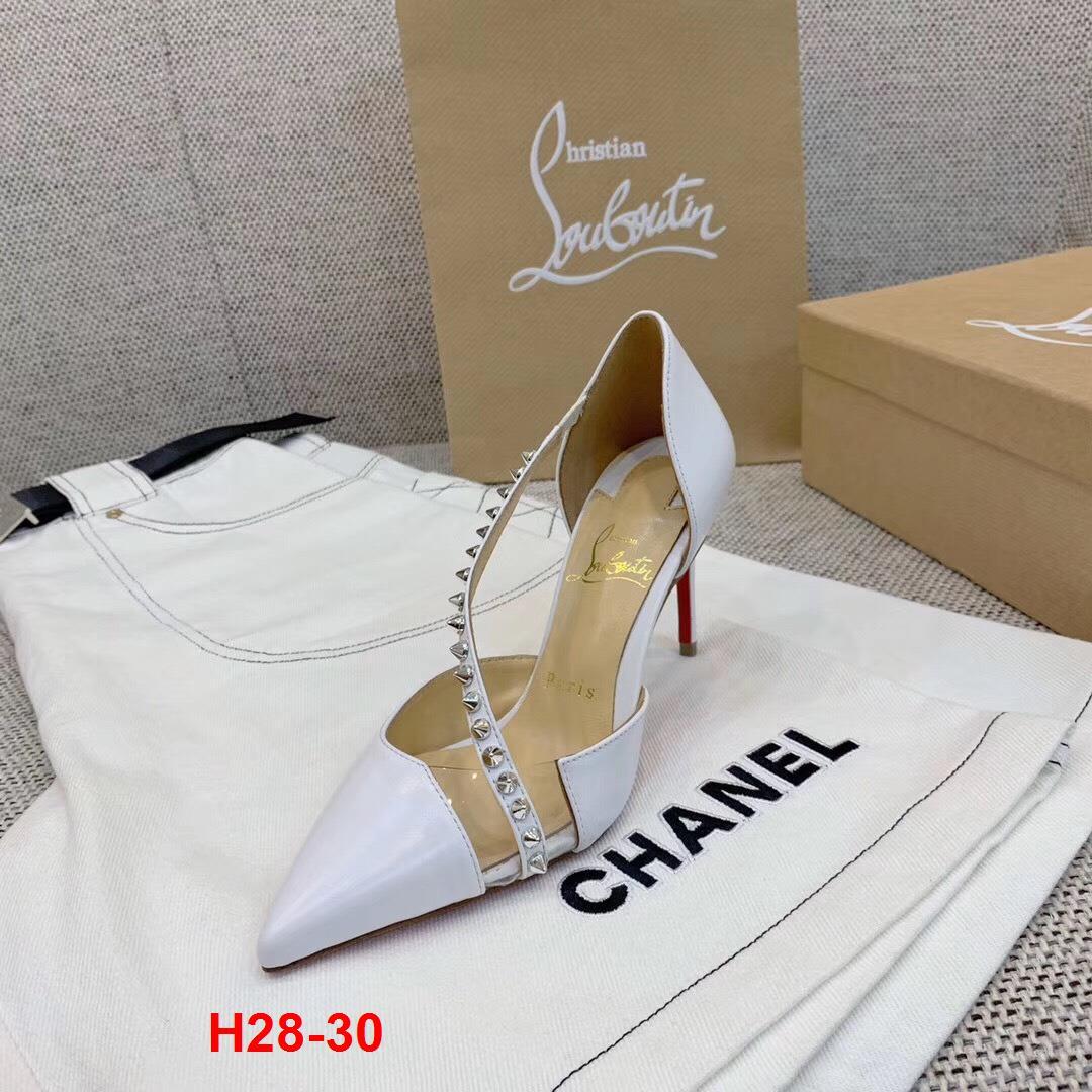 H28-30 Louboutin sandal cao 9cm siêu cấp