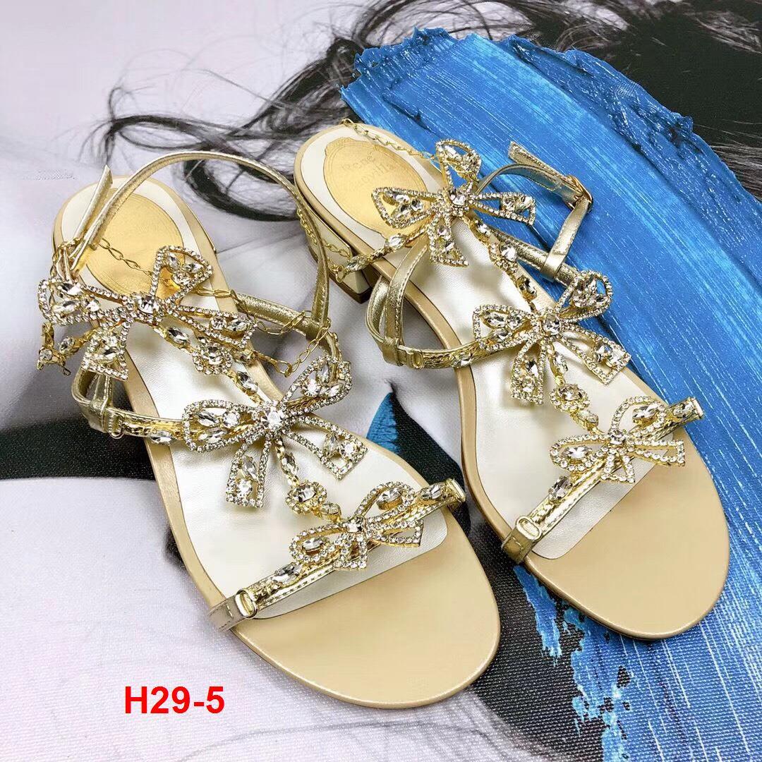 H29-5 Rene Caovilla sandal cao 3cm siêu cấp