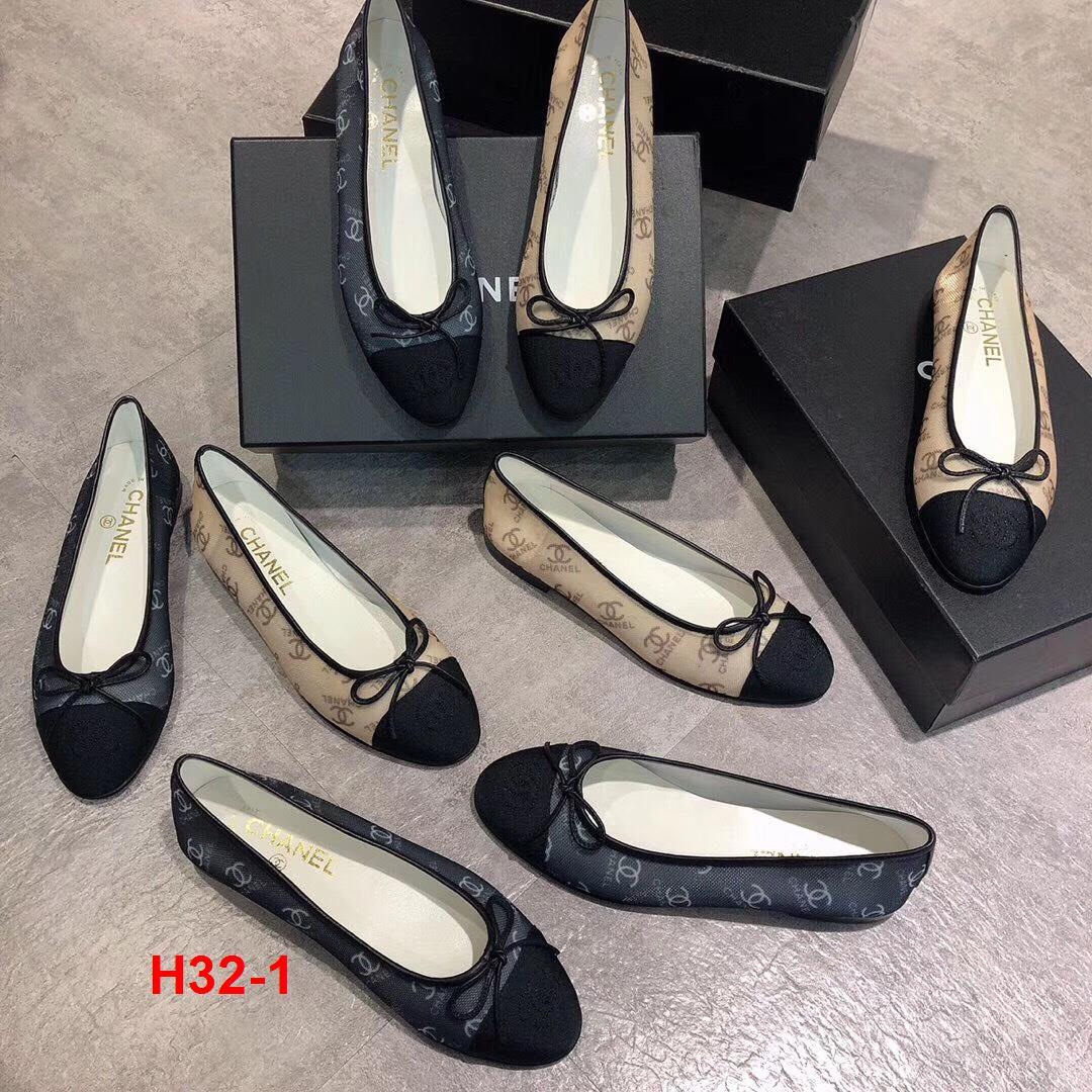 H32-1 Chanel giày bệt siêu cấp