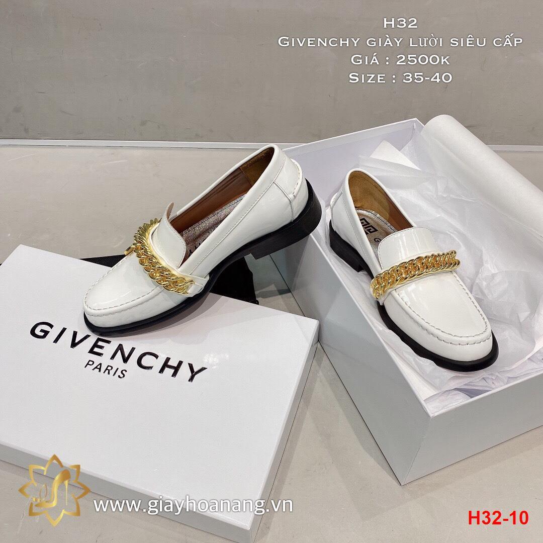 H32-10 Givenchy giày lười siêu cấp