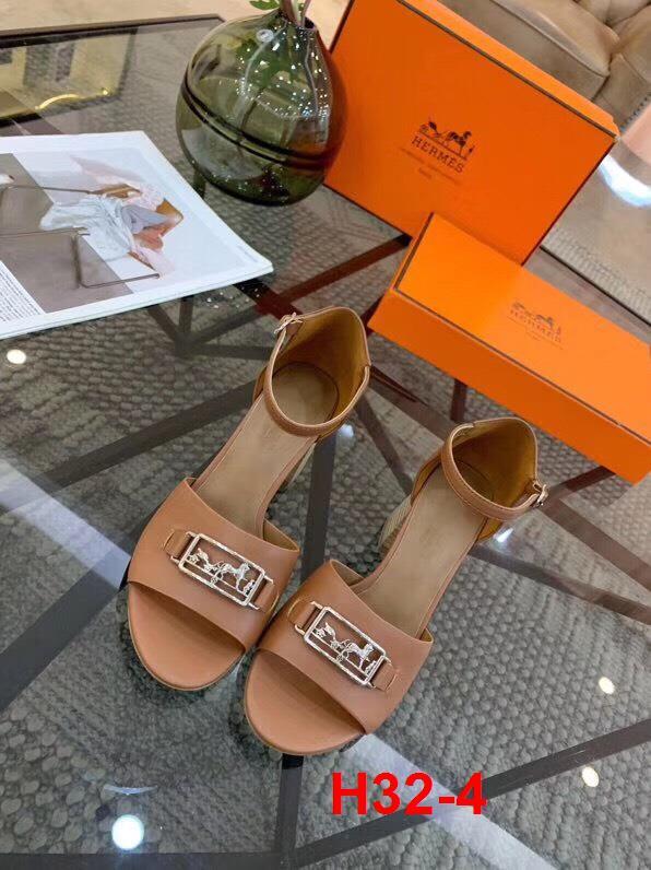 H32-4 Hermes sandal cao 5cm siêu cấp