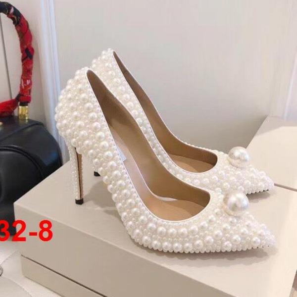 H32-8 Jimmy Choo giày cao 10cm, bệt siêu cấp