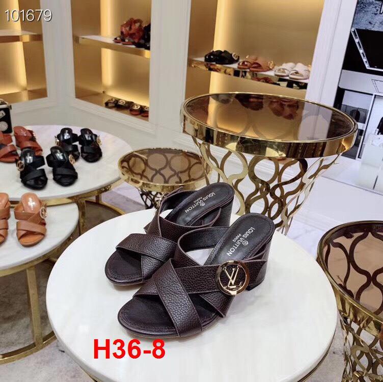 H36-8 Louis Vuitton dép cao 7cm siêu cấp