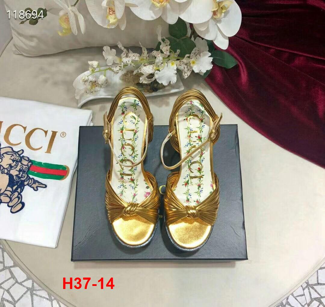 H37-14 Gucci sandal cao 12cm đế kếp 6cm siêu cấp