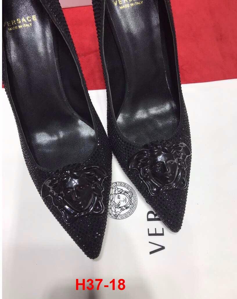 H37-18 Versace giày cao 6cm, 10cm đính đá siêu cấp
