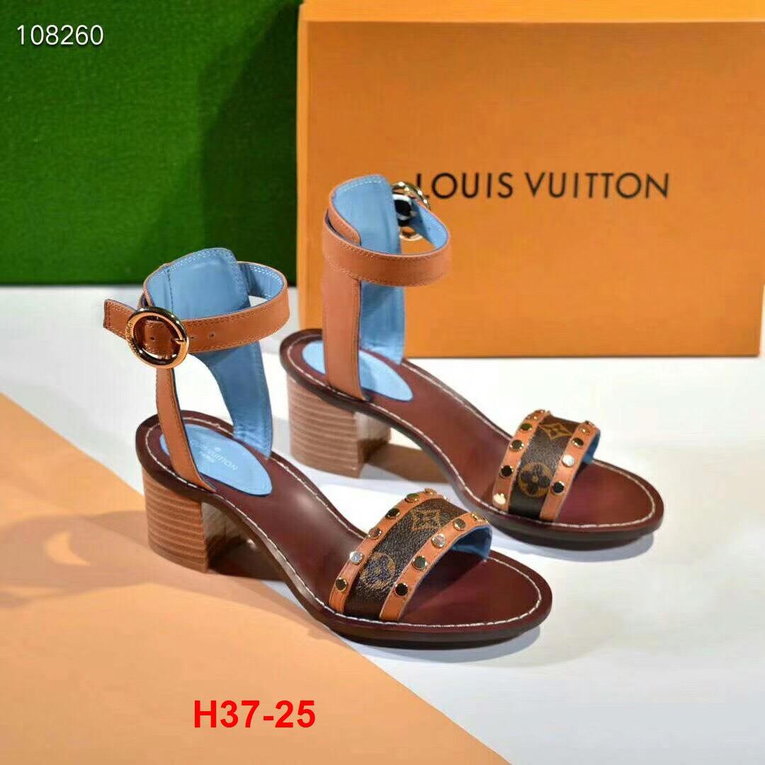 H37-25 Louis Vuitton sandal cao 6cm siêu cấp