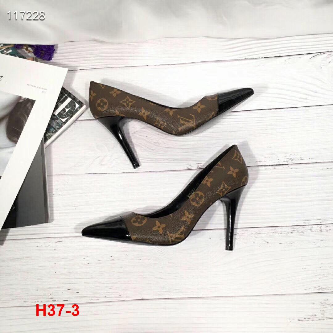 H37-3 Louis Vuitton giày cao 9cm siêu cấp