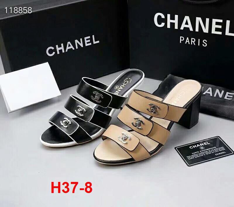 H37-8 Chanel dép cao 6cm siêu cấp