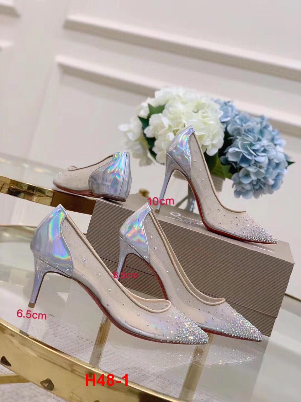 H48-1 Louboutin giày cao 2cm, 6cm, 8cm, 10cm siêu cấp