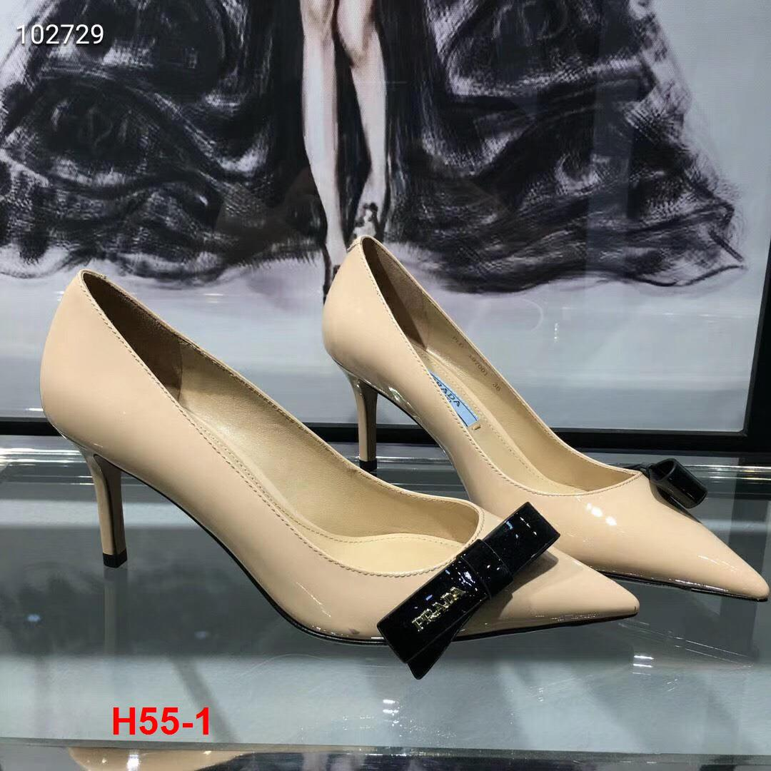 H55-1 Prada giày cao 7cm siêu cấp