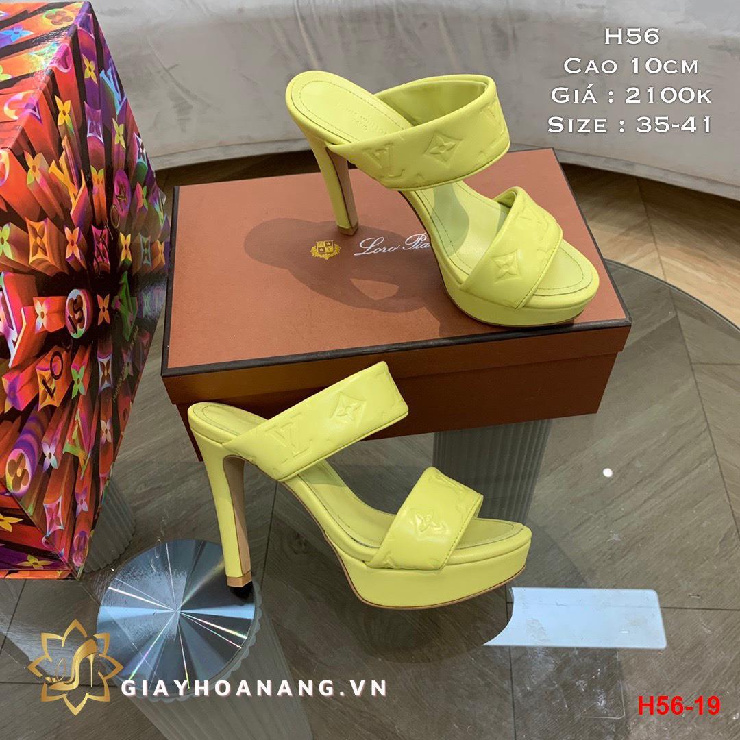 H56-19 Louis Vuitton sandal cao 10cm siêu cấp