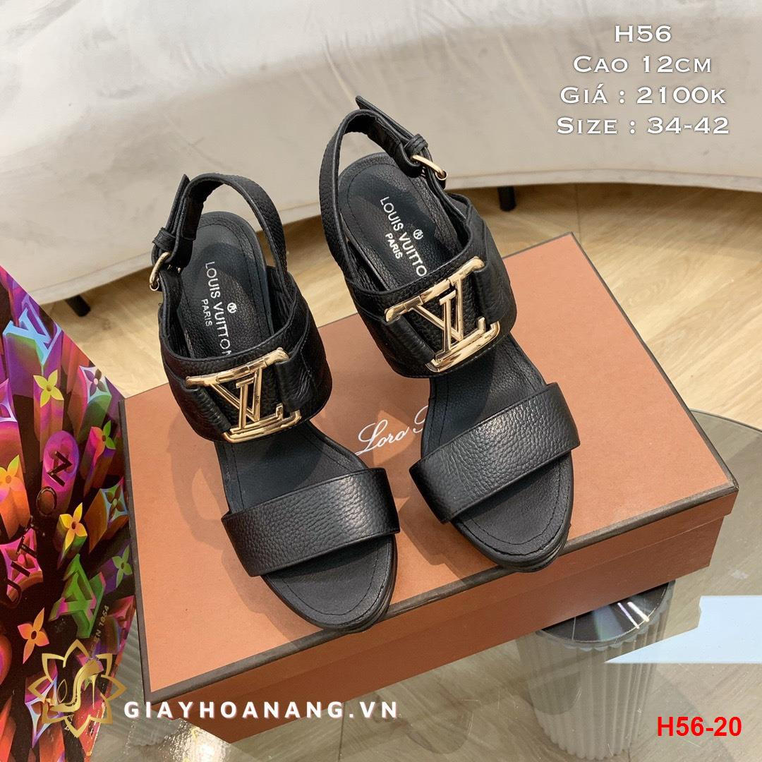 H56-20 Louis Vuitton sandal cao 12cm siêu cấp