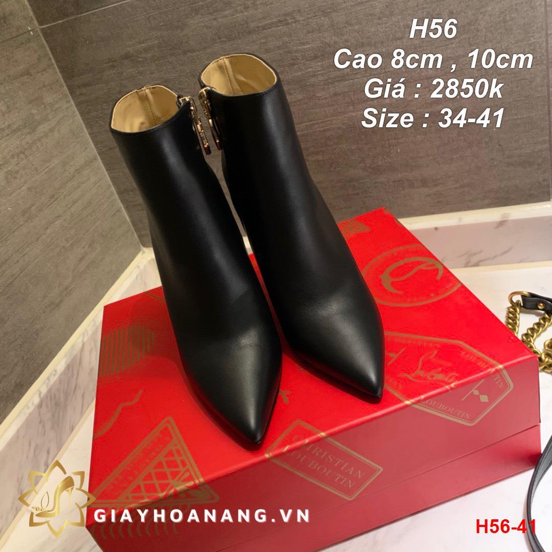 H56-41 Louboutin bốt cao 8cm , 10cm siêu cấp