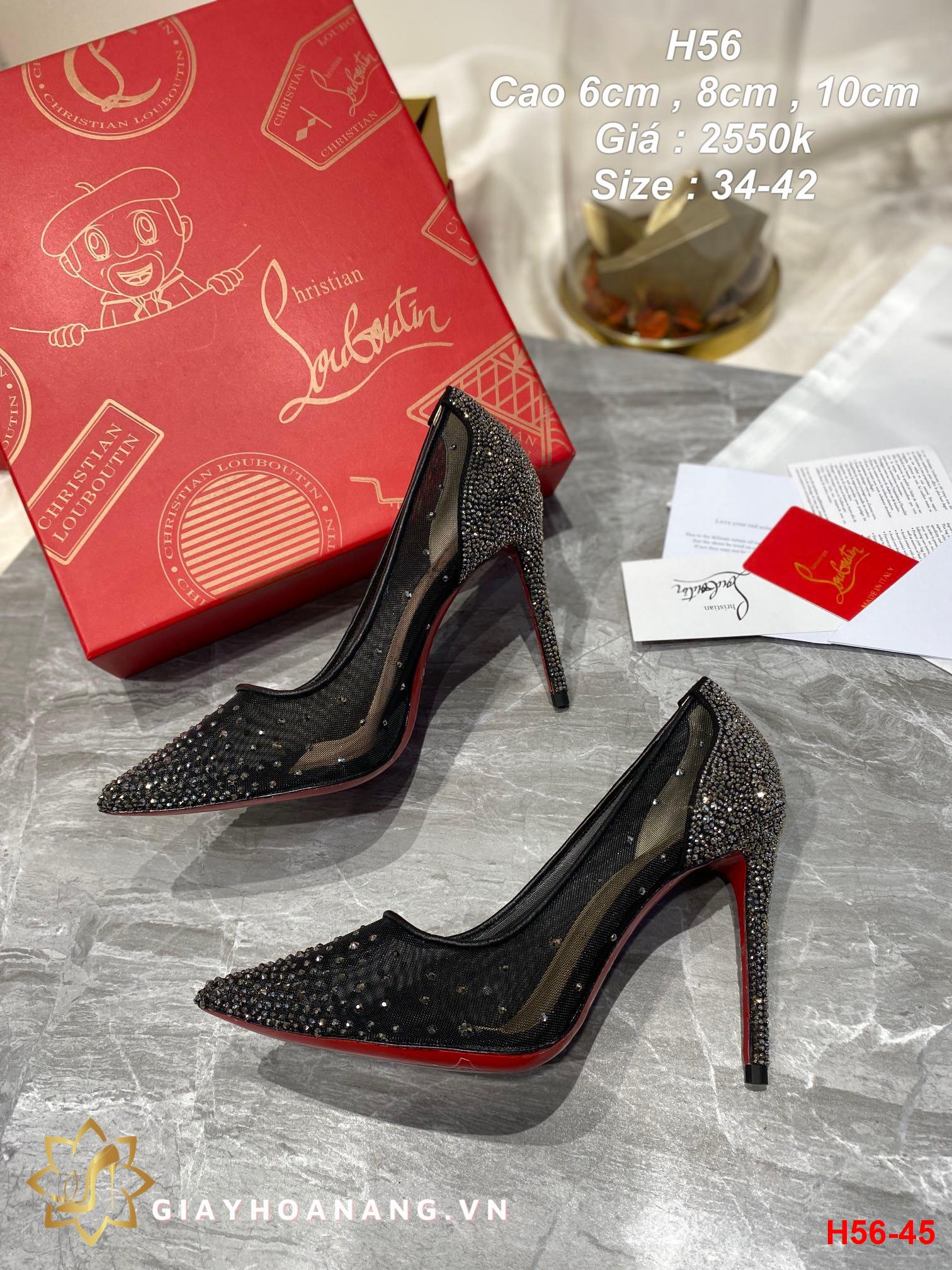 H56-45 Louboutin giày cao 6cm , 8cm , 10cm siêu cấp