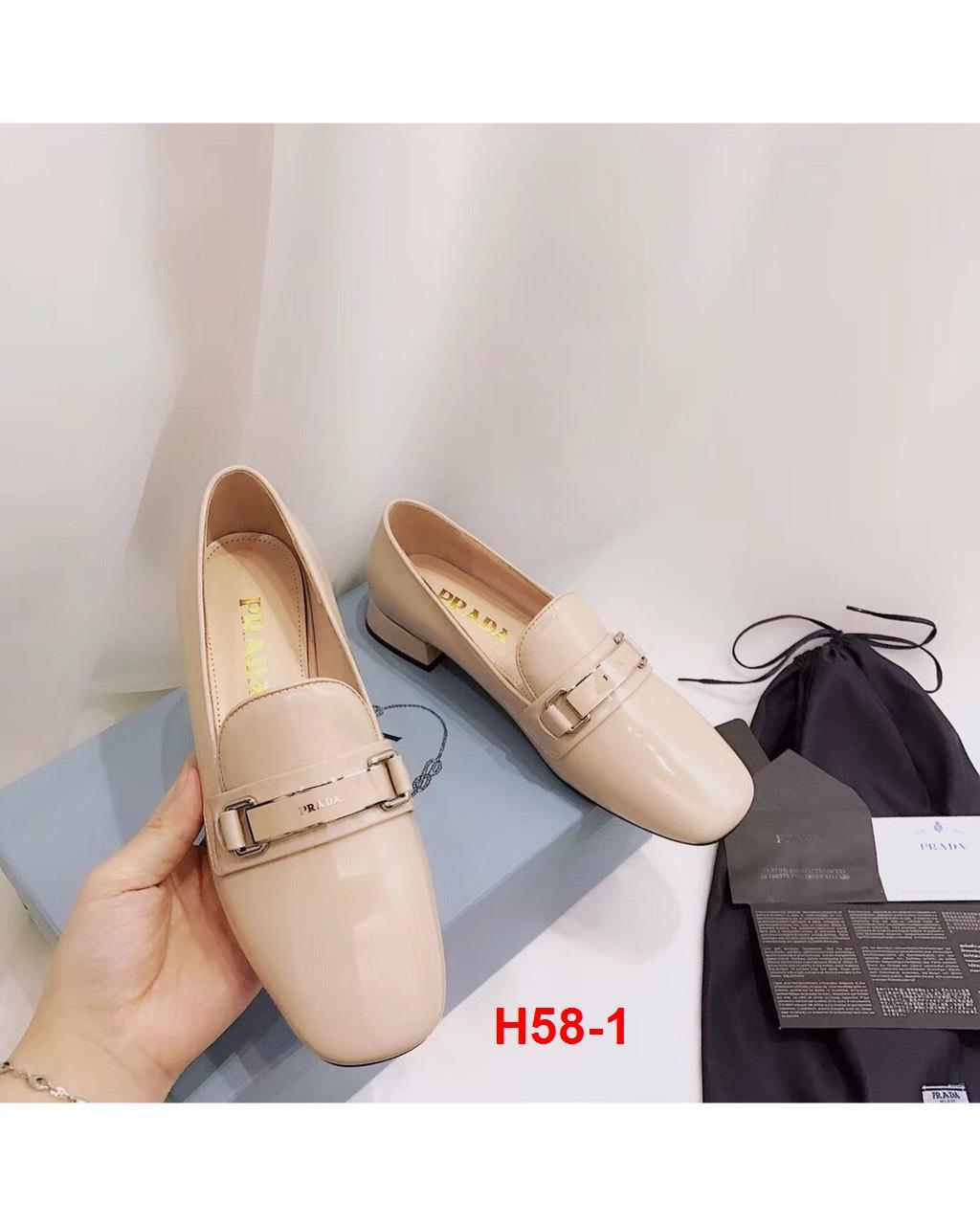 H58-1 Prada giày lười siêu cấp