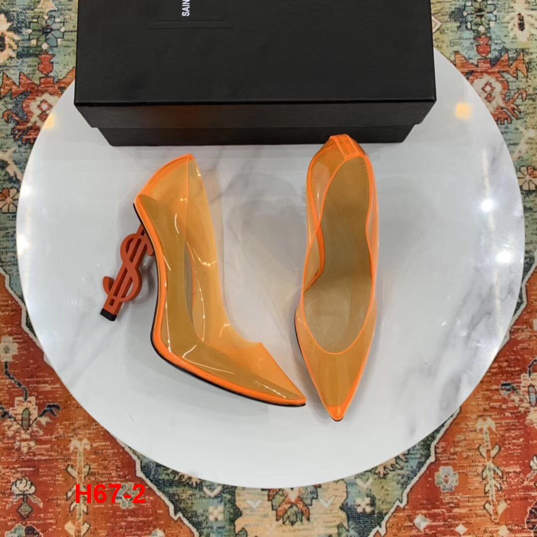 H67-2 Yves Saint Laurent YSL giày cao 10cm siêu cấp