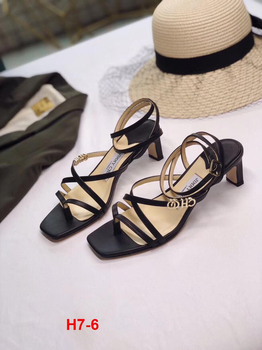 H7-6 Jimmy Choo sandal cao 5cm siêu cấp