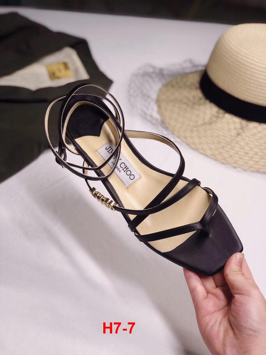 H7-7 Jimmy Choo sandal cao 1cm siêu cấp