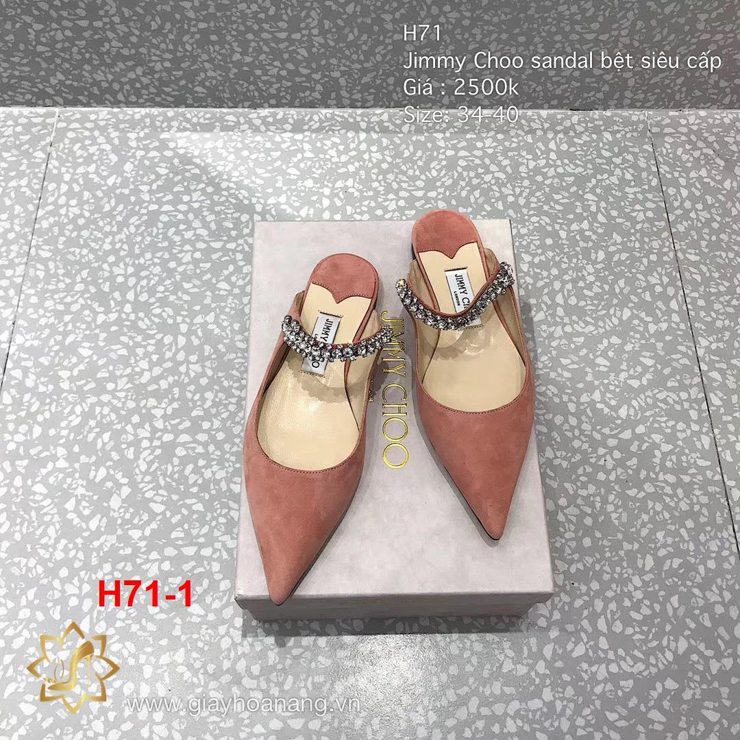 H71-1 Jimmy Choo sandal bệt siêu cấp