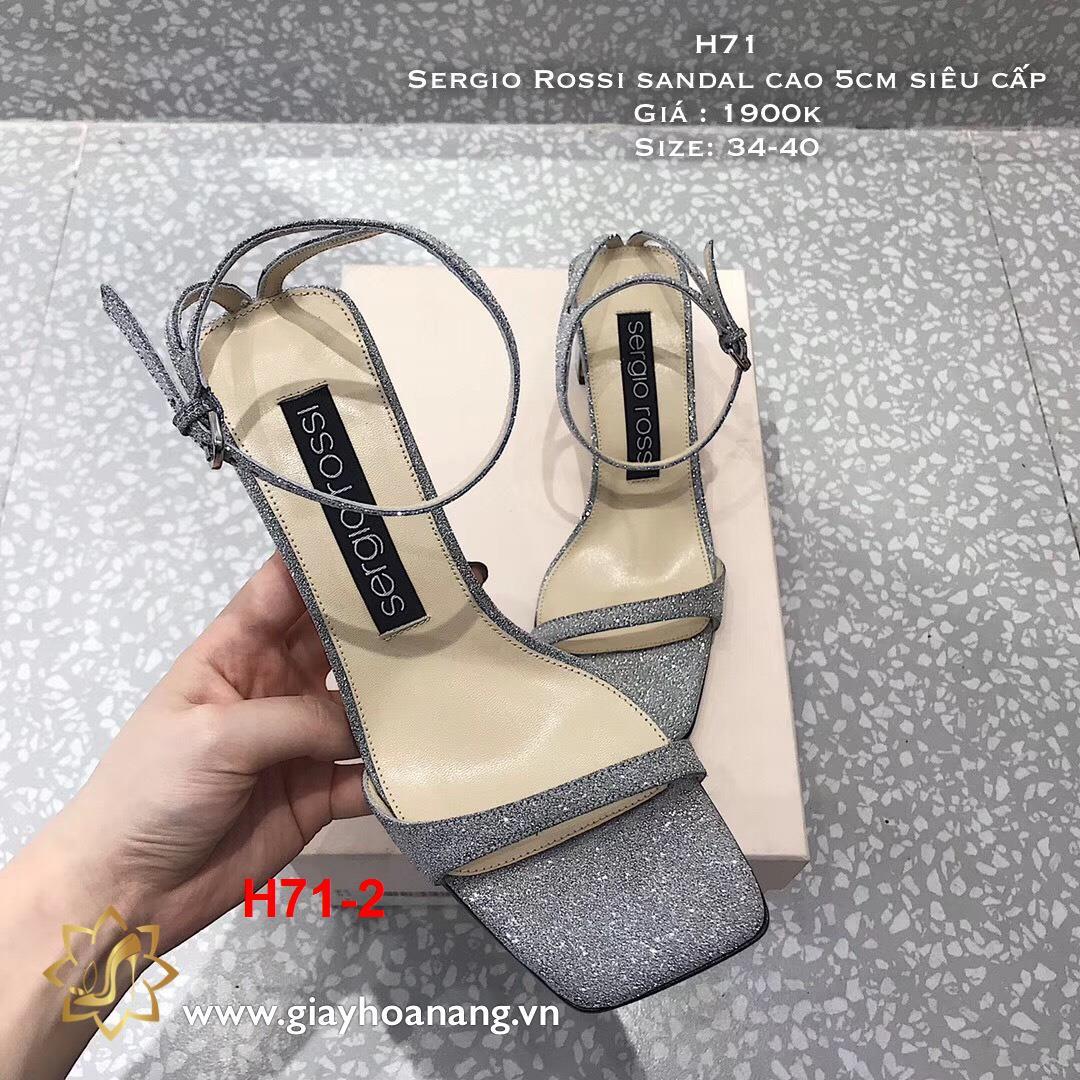 H71-2 Sergio Rossi sandal cao 5cm siêu cấp